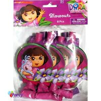 Dora The Explorer Party Favours x 8 Birthday Blowers Horns Blowouts Supplies
