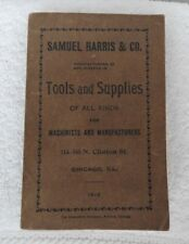 1912 SAMUEL HARRIS TOOL CATALOG CHICAGO ANVILS FORGES STARRETT CLAYTON LAMBERT