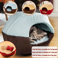 Cat Dog Bed House Foldable Soft Mat Warm Animal Puppy Cave Winter Sleeping Pad