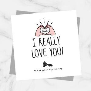 Valentines Card For Boyfriend I Love You Funny Rude Banter Anniversary