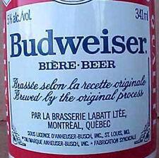 BUDWEISER BIERE-BEER 341ml CAN La Brasserie Labatt Ltee, Quebec, CANADA Grade 1+