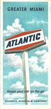 1966 ATLANTIC OIL Road Map GREATER MIAMI Florida Coral Gables Hialeah Opa-Locka