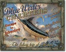 Angelsport Anglen Blue Water Hochsee Angler Reisen USA Metall Deko Schild