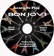 Bon Jovi Guitar TABS Lesson CD for Windows, Linux, MAC 132 songs!