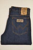 Mens Wrangler Texas Regular Fit Denim Jeans Darkstone Wash Various Sizes