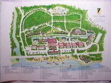 COCO PALMS RESORT ORIGINAL MAP OF THE GROUNDS POSTER KAUAI