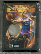 JEREMY LIN NEW YORK KNICKS #17 LINSANITY GAME WORN JERSEY PLAQUE