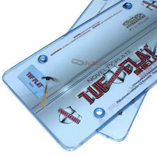 2 Blue Tinted License Plate Tag Frame Covers Shield Protector for Auto-Car-Truck
