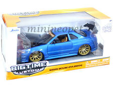 JADA BIGTIME 96812 NISSAN SKYLINE GT-R GTR BNR34 1/24 DIECAST BLUE
