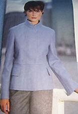 OOP designer JACKET PATTERN w/standing collar snap front 6 8 10 unusual design