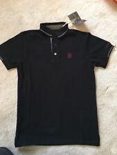 BNWT!! Lambretta Polo shirt Short Sleeve Polo Shirt Mens black Extra small