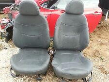 03 Mini Cooper S black leather front seats