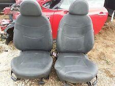 03 Mini Cooper S black leather front seats