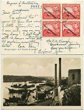 More details for malta 1947 real photo ppc marina block franking + message ship empress australia