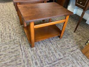 Vintage Mid Century Modern Lane Side End Table Solid Walnut Danish