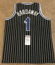 ANFERNEE PENNY HARDAWAY SIGNED AUTO ORLANDO MAGIC BLACK JERSEY JSA AUTOGRAPHED