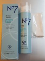 RRP £13 No7 Radiant Results Revitalising Hot Cloth Cleanser 200ml + Muslin Cloth