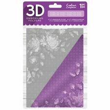"Crafter's Companion 5"" x 7"" 3D Card Embossing Folder - Rambling Rose"