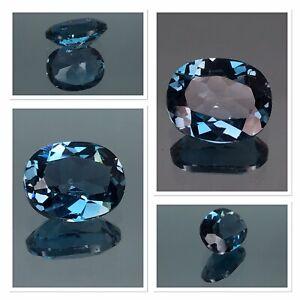 Exceptional Top Grade London Blue Topaz 3.35 Carat Oval Cut Gemstone FL Clairty
