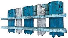 SHaBBY ViNTaGe STyLe LooK PaLeTTeNReGaL blau weiß Palettenmöbel Regal Palette