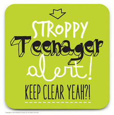 Brainbox Candy funny 'Stoppy Teenager' novelty drinks coaster cheap present gift