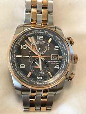 CITIZEN ECO DRIVE RADIO CONTROLLED WORLD TIME MENS WATCH