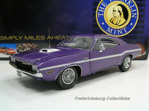 FRANKLIN MINT 1970 DODGE CHALLENGER R/T HEMI COUPE - PLUM CRAZY - EXC W/ PAPERS