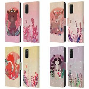HEAD CASE WOODLAND ANIMALS LEATHER BOOK CASE & WALLPAPER FOR SAMSUNG PHONES 1