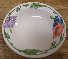 Villeroy Boch Amapola Rim Cereal Soup Bowl 7 7/8 inch Blue Orange Flowers