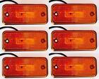 6x LED 12V Latéral Position Feux de orange ambré camion van camping-car Bus