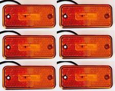 6 x LED 24V position marker Lichter orange Lampe für LKW Anhänger Bus