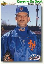 531 TERRY BROSS NEW YORK METS BASEBALL CARD UPPER DECK 1992