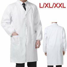 Unisex Laborkittel Weiß Labor Medizin Kittel Mantel Arztkittel Arbeitskittel