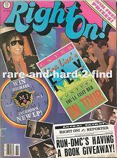 RIGHT ON November 1987 MICHAEL JACKSON Rare Vintage USA Celebrity Magazine