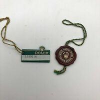 VINTAGE Genuine Rolex Green Tag Red Tag watch 2 set 0109009