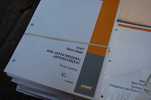 CUSTODIA 75xt Skid Steer Loader Parts Manual book catalog spare list mini 2002