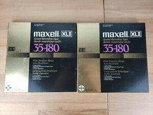 """Maxell XLII 35-180 Position EE 10.5"""" Metal Reel to Reel Tape 3600' MINT COND"""