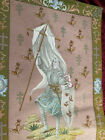 Antique Vintage Wall Hanging Tapestry - French