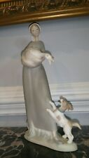 Authentic Lladro - Girl with Goose and Dog - Model 4866 - Retired Made in Spain.
