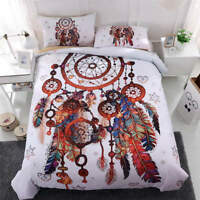 4pc. Colorful Dreamcatcher Feather Twin Full Queen King Quilt Duvet Cover Set