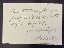 Signed Letter EARL ROBERTS*Victoria Cross*BOER WAR*Sepoy Mutiny*Lucknow*Ireland+