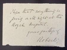 Signed Letter EARL ROBERTS*Victoria Cross*BOER WAR*Sepoy Mutiny*Lucknow*Ireland+