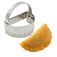 Grilo Kitchenware Stainless Steel Rissóis Mold Maker Ribbed Patty Cutter