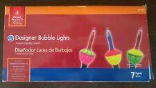 New Holiday Living 7 Light Multicolor Christmas Bubble Light String Set