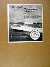 1956 Emancipator Sports Cruiser boat photo Olsen Montgomery vintage print Ad