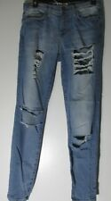 Current Elliott blue distressed ripped straight legs jeans waist 30""