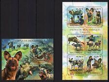 MOZAMBIQUE 2011 FAUNA DE MOZAMBIQUE CARNIVEROS WILD ANIMALS STAMPS MNH**