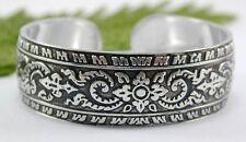 """size 6-8 6"""" 7"""" 8"""" Thailand Ancient Thai Classic Design Aluminum Cuff Bracelet"""