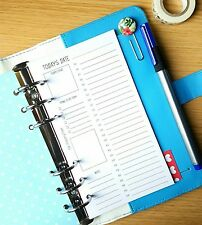 Daily Schedule Personal Planner Filofax  Kikki K Inserts
