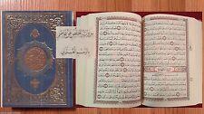Holy Quran: Hafs /Osmani Complete Mus-haf Arabic Islam ~Hardcover Book Blue New
